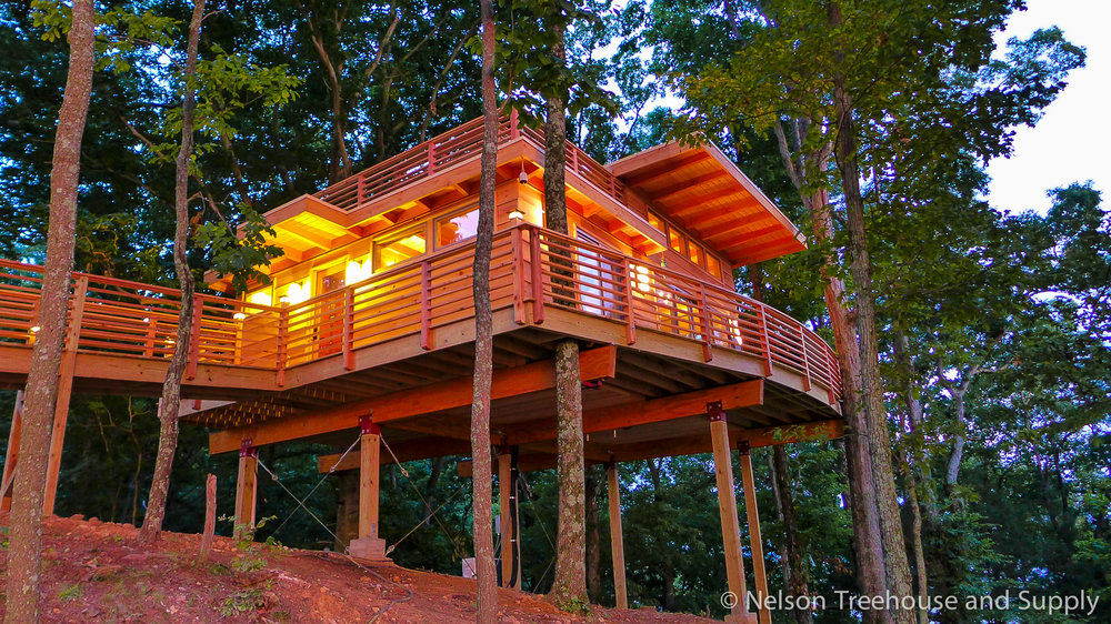 frank lloyd wright treehouse in kentucky - Treehouse Masters Tree Houses Inside