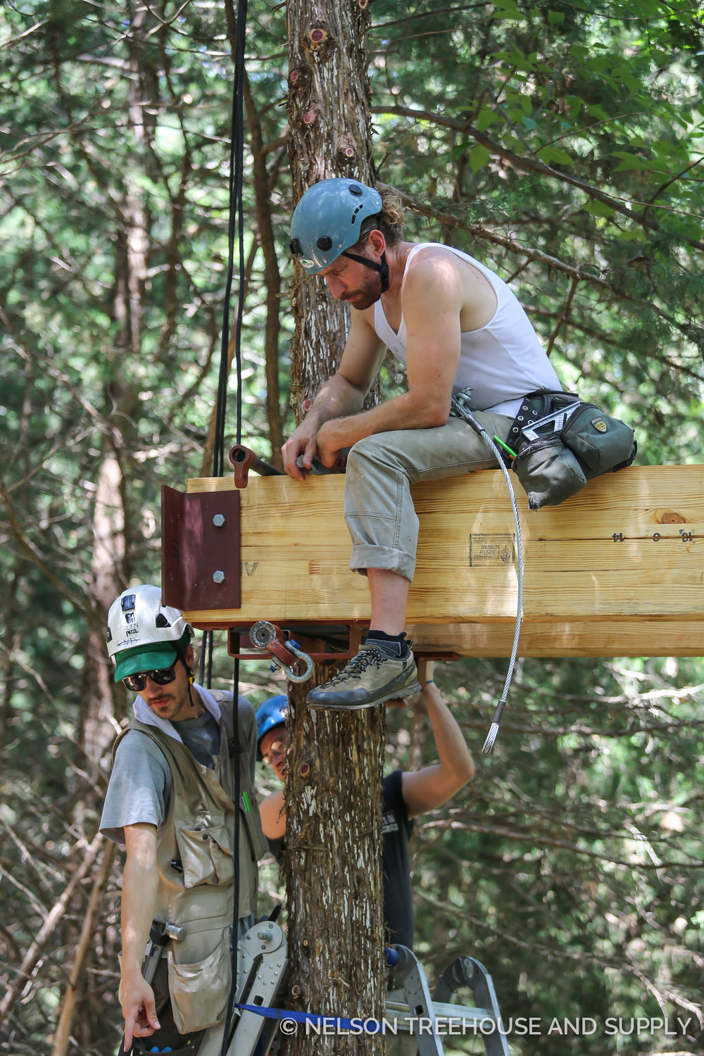 Alex is an experienced rock and tree climber.