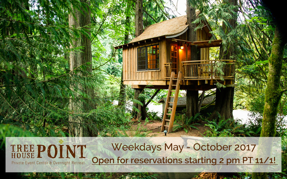 TreeHouse Point 2017 Weekday Openings