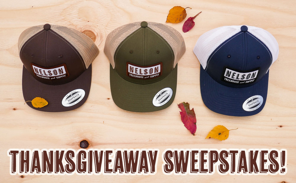 Nelson Treehouse Thanksgiving Giveaway