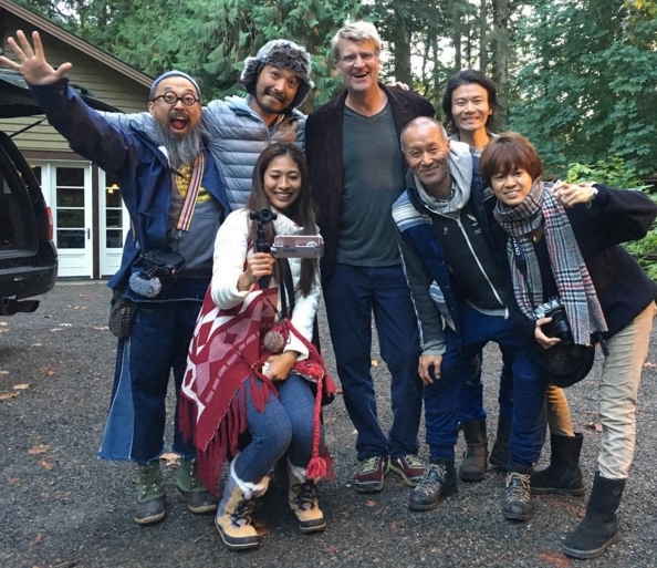 Renowned Japanese Treehouse builder Taka Kobayashi and his friends stopped by Treehouse point earlier this fall. it's always a delightful experience to be in taka's presence.