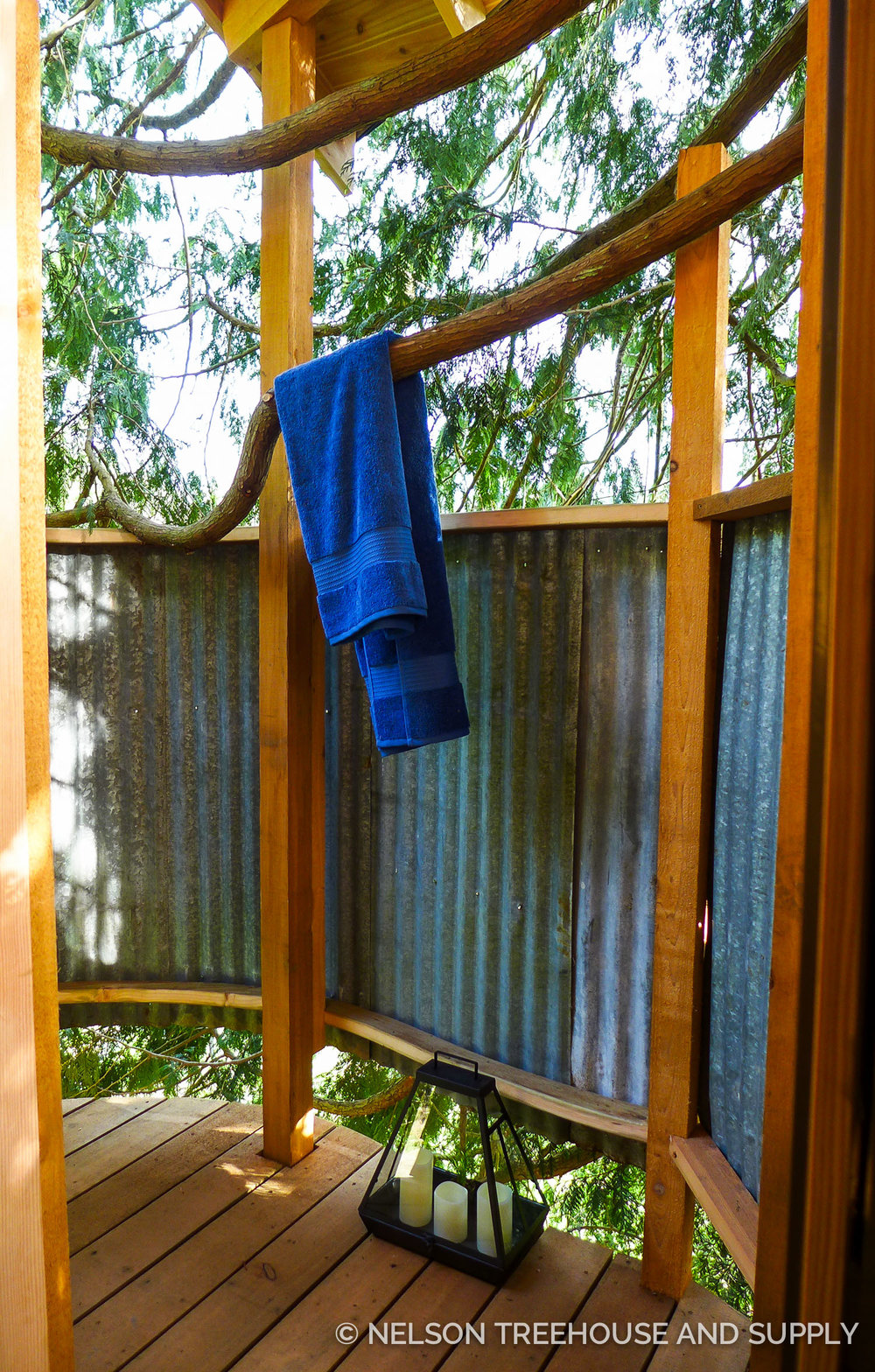Most NT&S clients ask for plumbed treehouses; charlie's treehouse in woodinville, WA even has an outdoor shower.