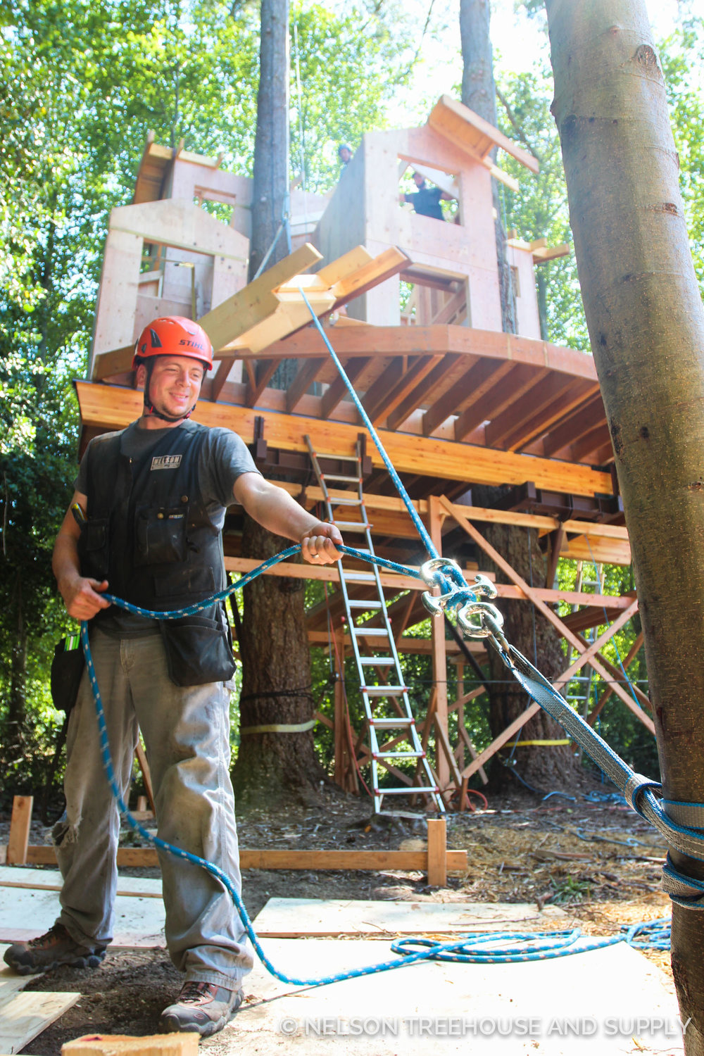 Devin loved building the orcas island treehouse.