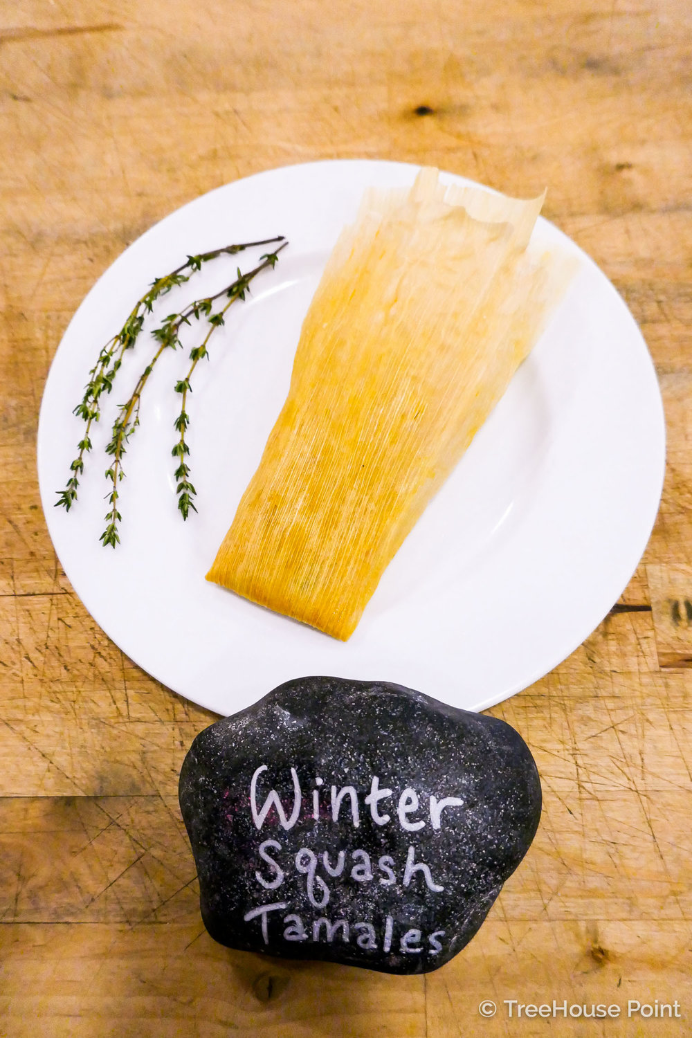 TreeHouse Point Vegan Winter Squash Tamales