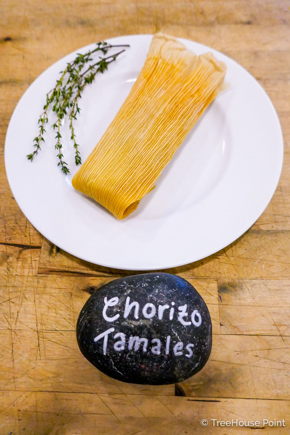 TreeHouse Point Chorizo Tamales