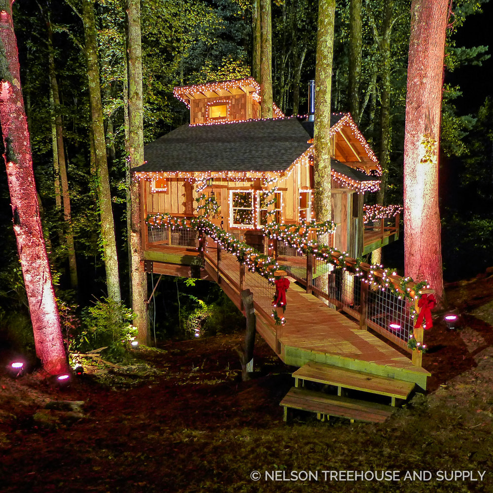 Treehouse Masters Tree Houses Inside photo tour: appalachian christmas treehouse — nelson treehouse