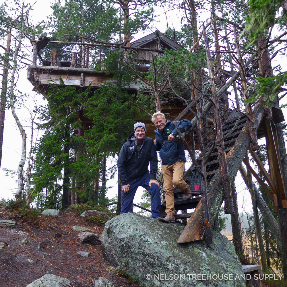 Pete loved meeting Frode Schei at Tree Top Huts in Norway.