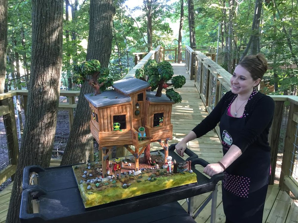 PATRICK'S PHOTO OF AMAZING CAKE REPLICA OF THE TREEHOUSE, BY  TASTY LAYERS CUSTOM CAKES .