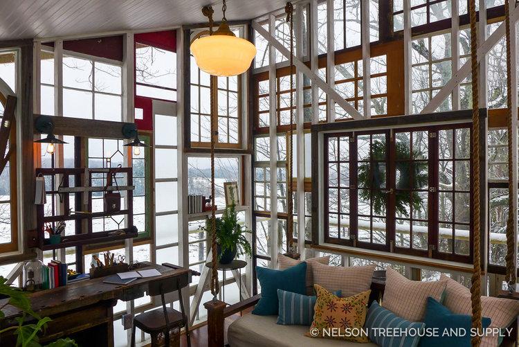 Treehouse Masters Interior catskills glasshouse treehouse — nelson treehouse