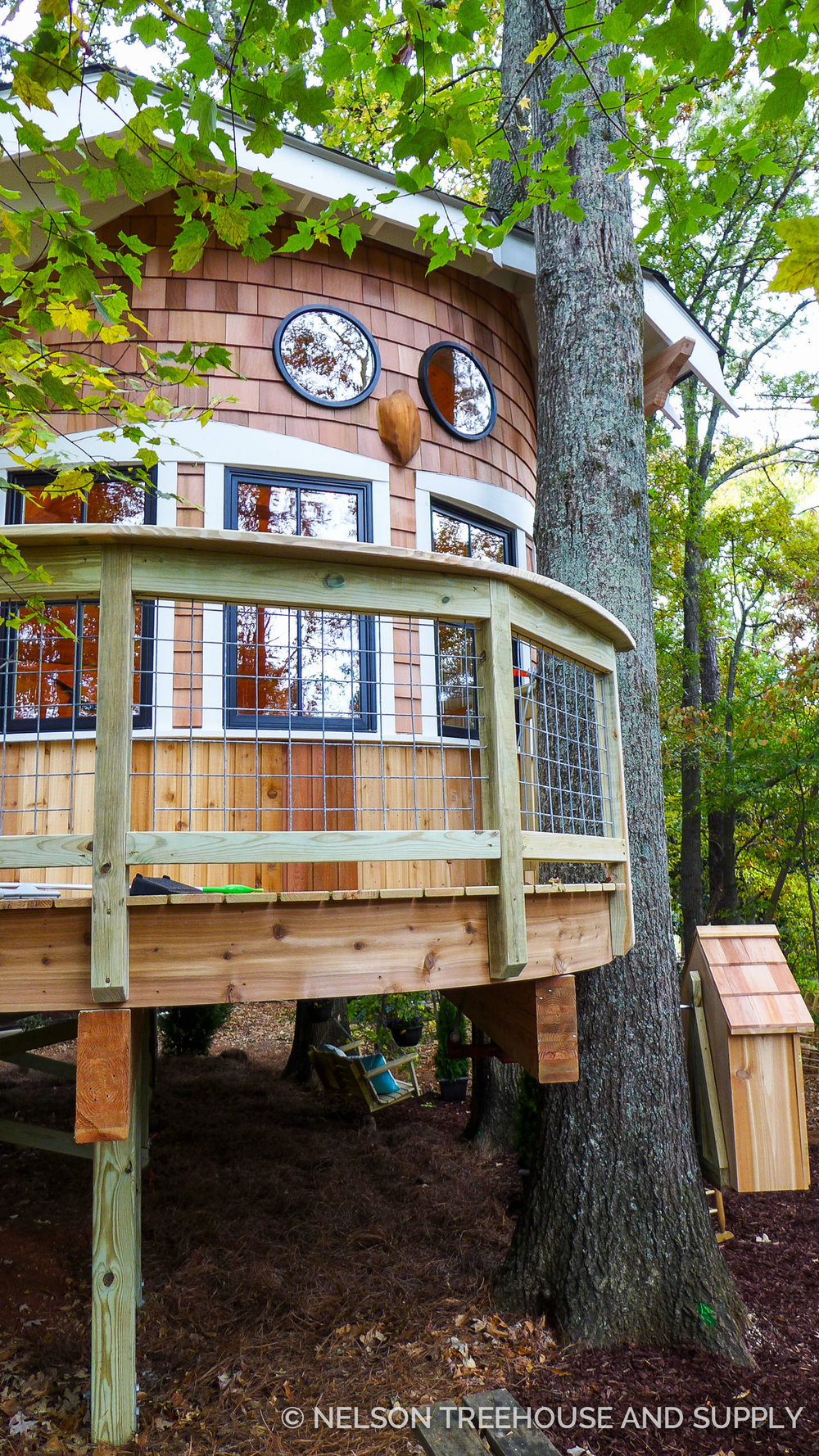 Photo Tour Owl S Nest Treehouse Library Nelson Treehouse