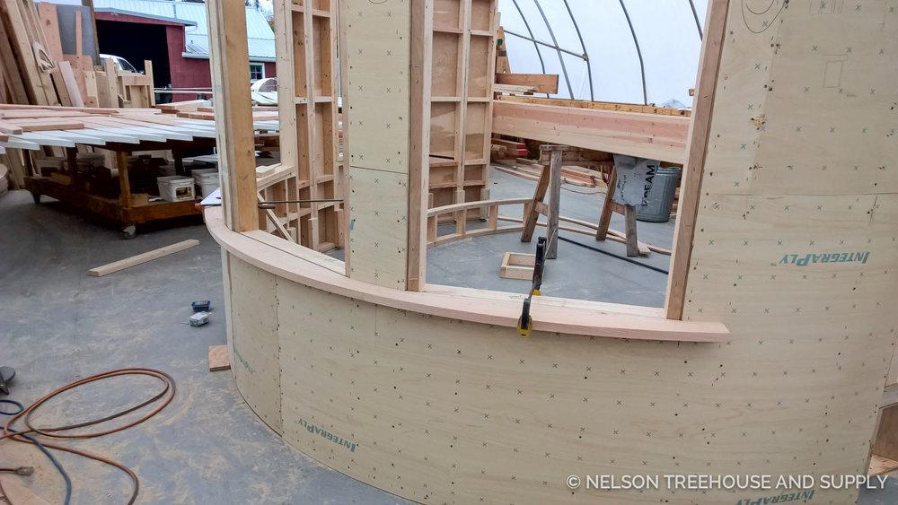 Nelson Treehouse Fibonacci Bench Owl's Nest