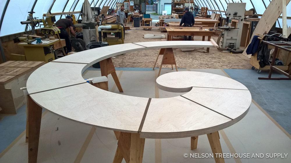 Nelson Treehouse Fibonacci Bench