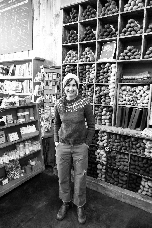 Anna Dianich in Her Yarn Shop, Tolt Yarn and Wool