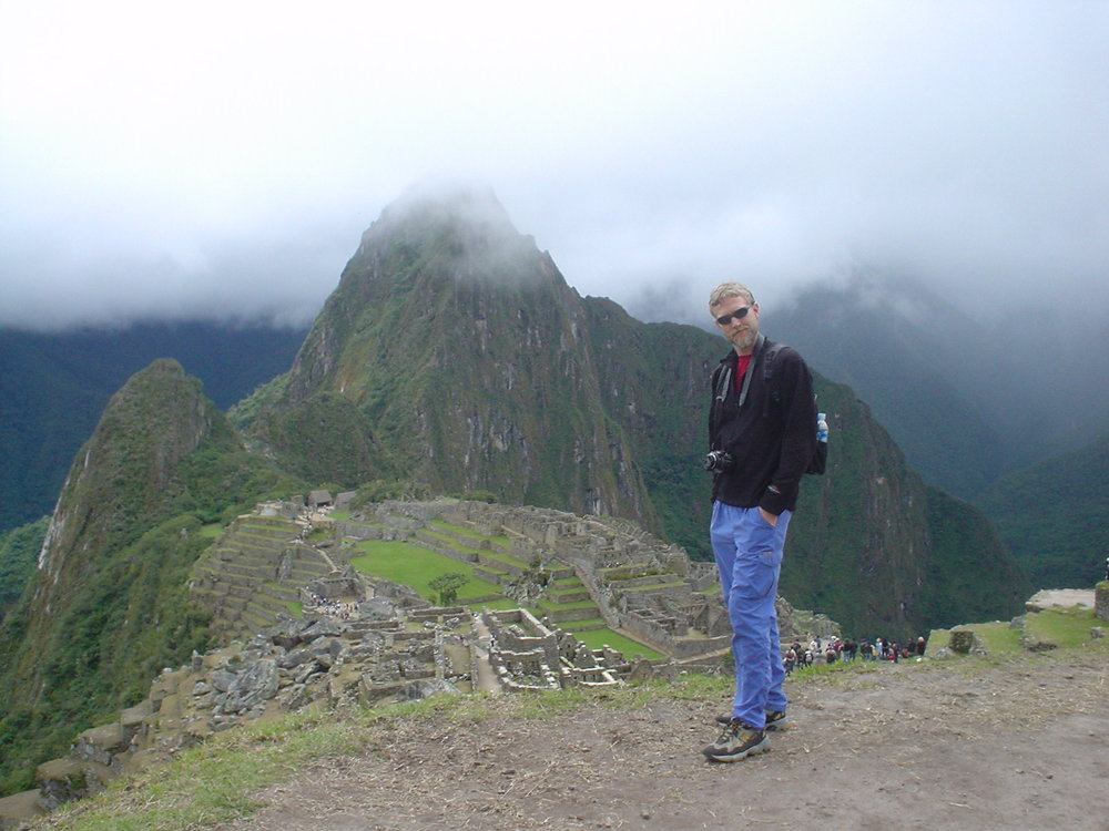 Chuck at Machu Picchu, Peru.