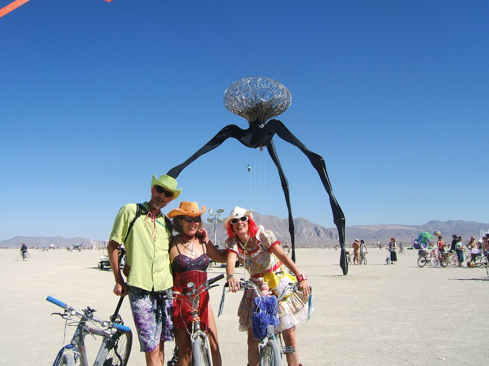 Chuck at Burning Man.