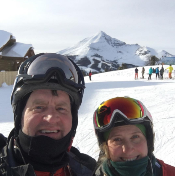 Nelson family skiing