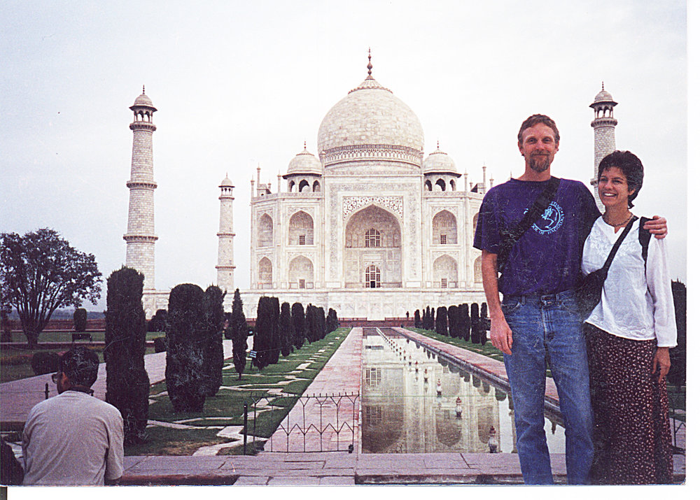 Chuck and his partner, Teri at the Taj Mahal.