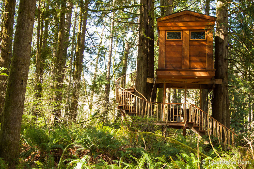 Pete Loved building the Bonbibi treehouse at TreeHouse Point! You can replicate this beauty with our No. 11 Walla Walla plan.