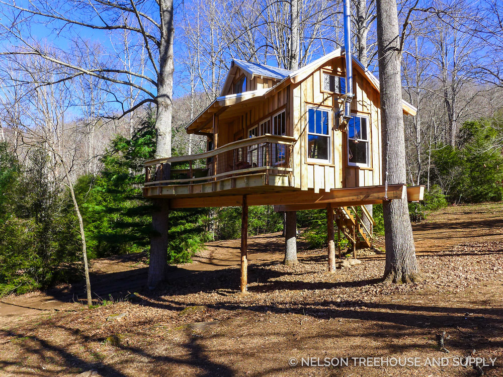 Blue Ridge Mountain Meditative Nelson Treehouse