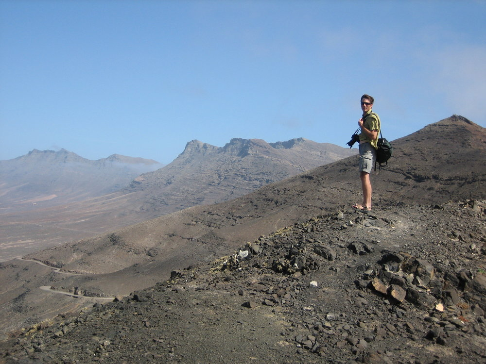 Toby was in awe of the Barren landscape of Fuerteventura in the canary Islands.
