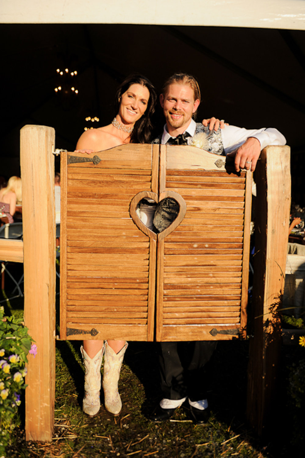 LARA AND WALKER AT THEIR WILD WEST-THEMED WEDDING