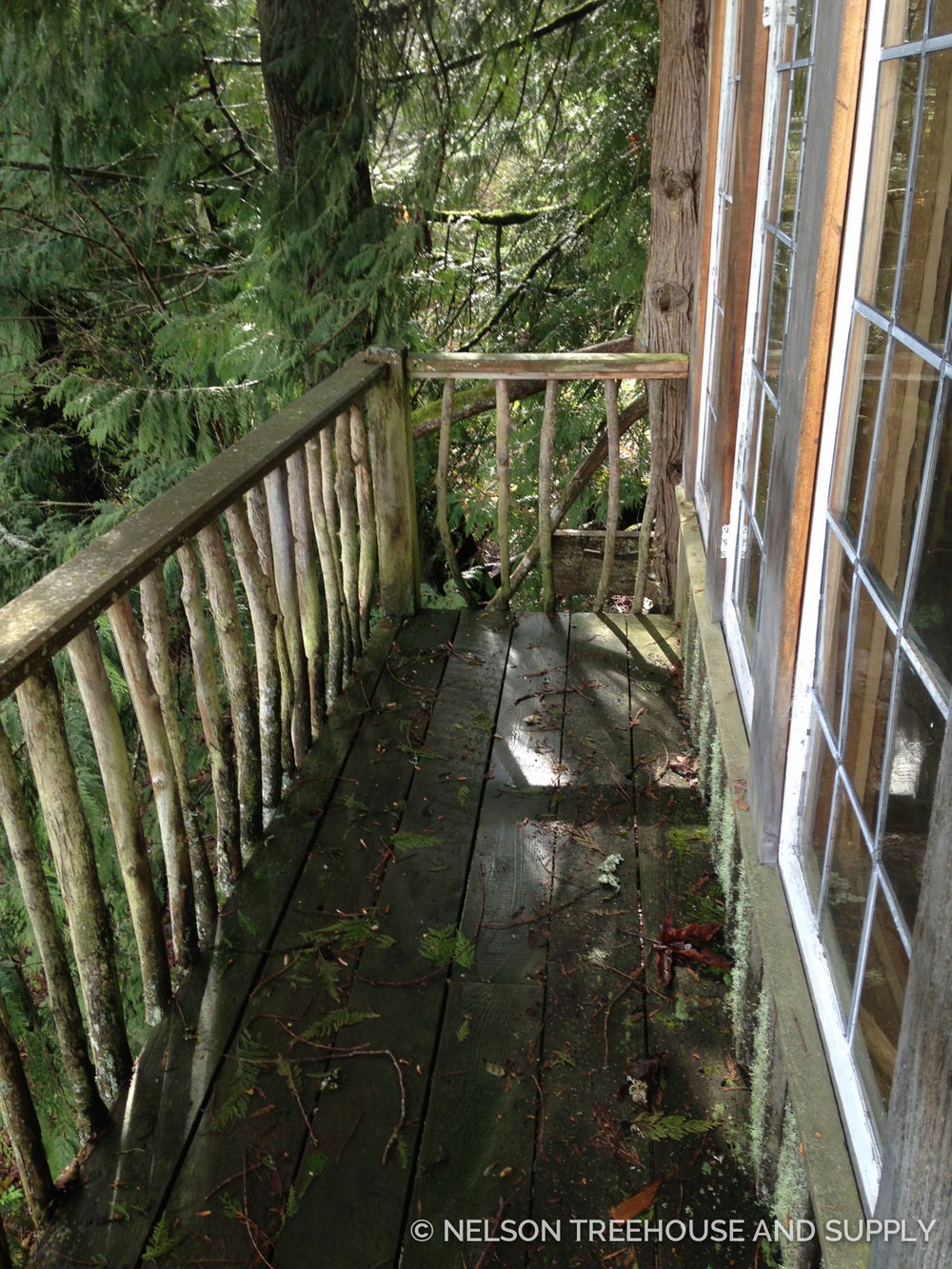 Wet weather ate away at the original decking. Pete and the crew replaced it with sturdy western red cedar.