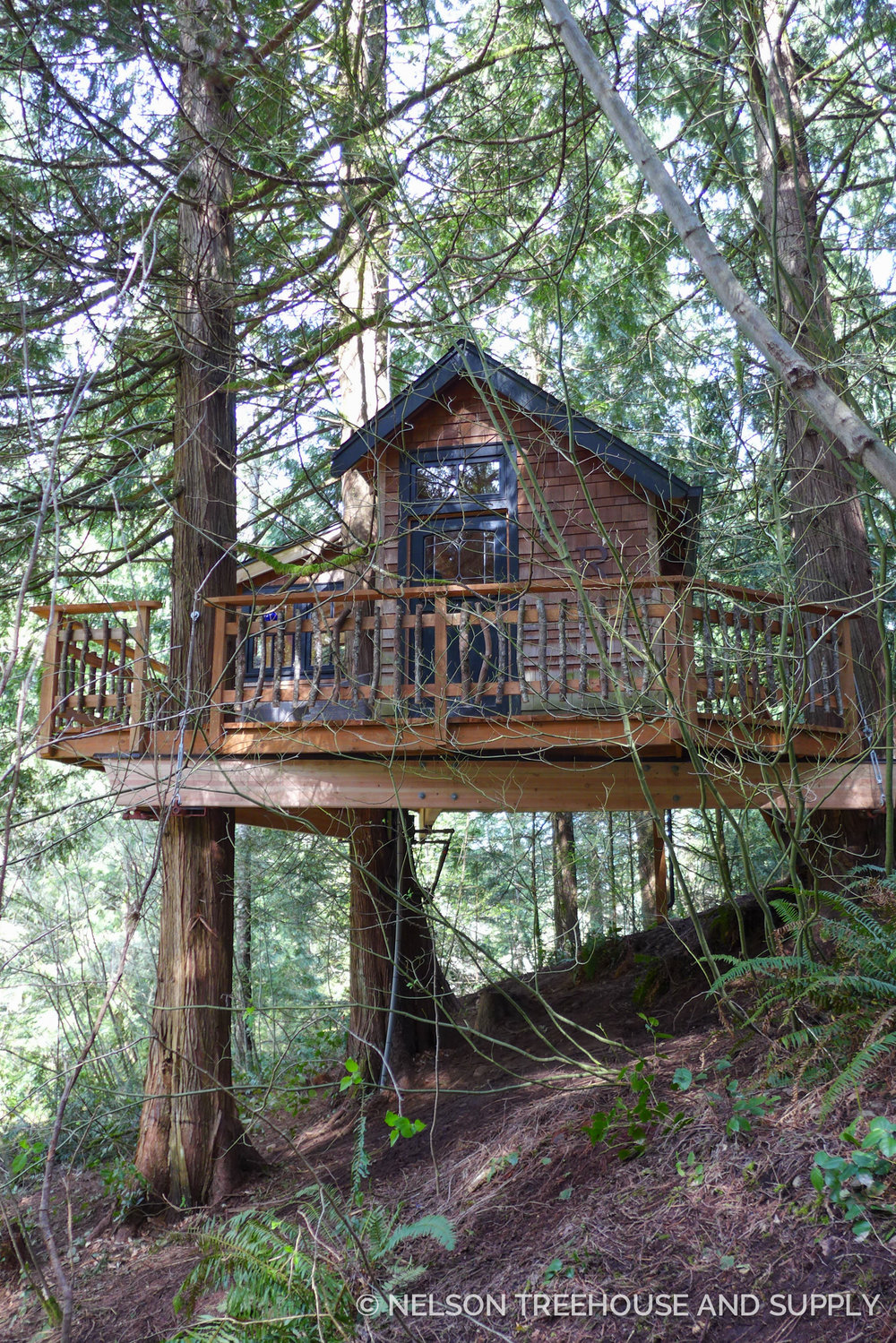 John and Inga's remodeled treehouse.