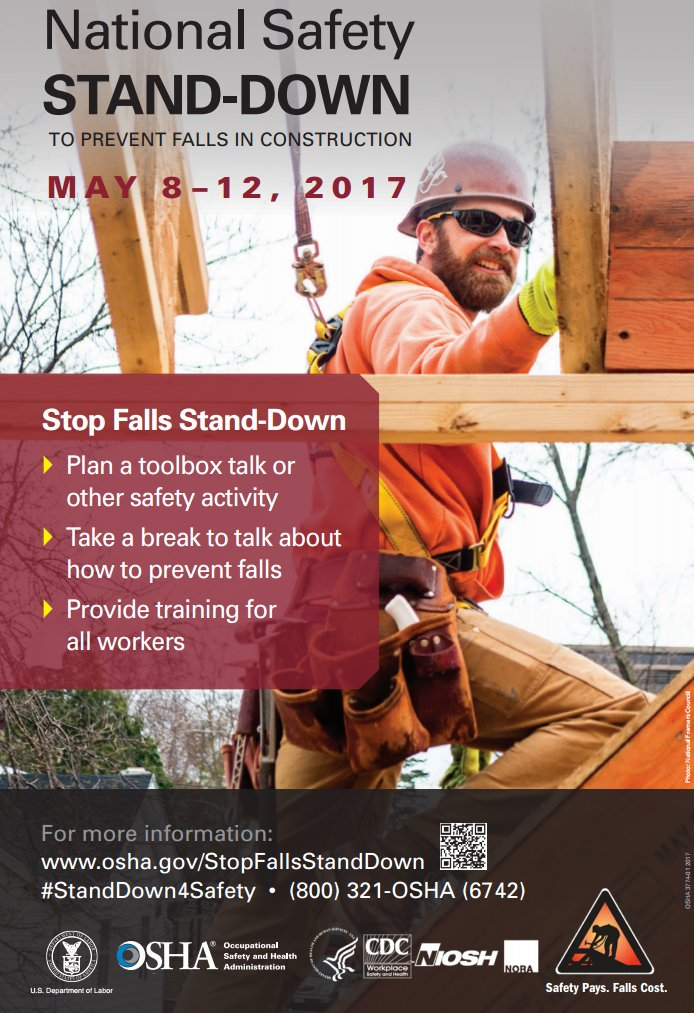 Image from  https://www.osha.gov/StopFallsStandDown/resources.html