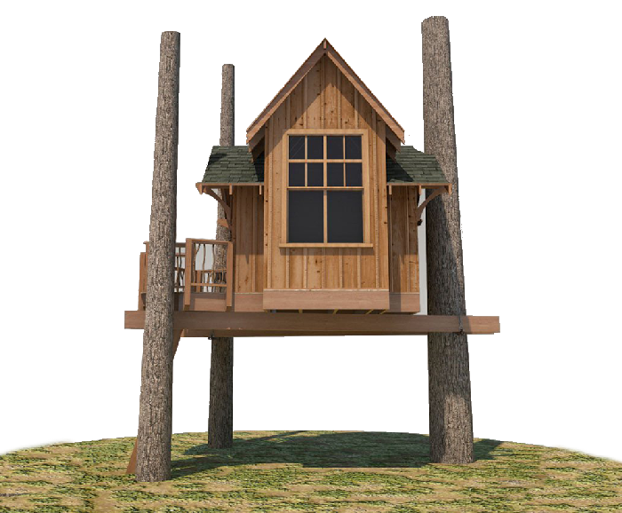 One stop shop for your treehouse build nelson treehouse for Single tree treehouse ideas