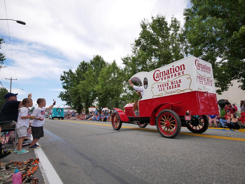 Carnation milk truck at carnation's Fourth of July parade. Photo by Glenn Asakawa