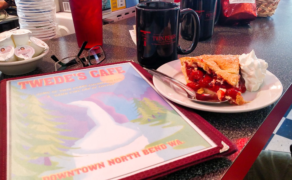 Cherry pie and a damn fine cup of coffee at Twede's