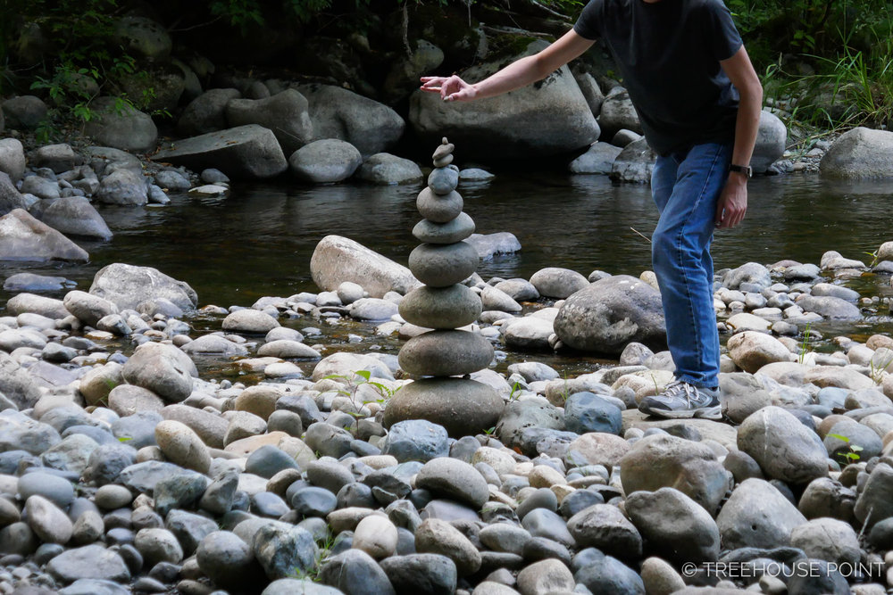 Crafting Cairns at the Raging River.
