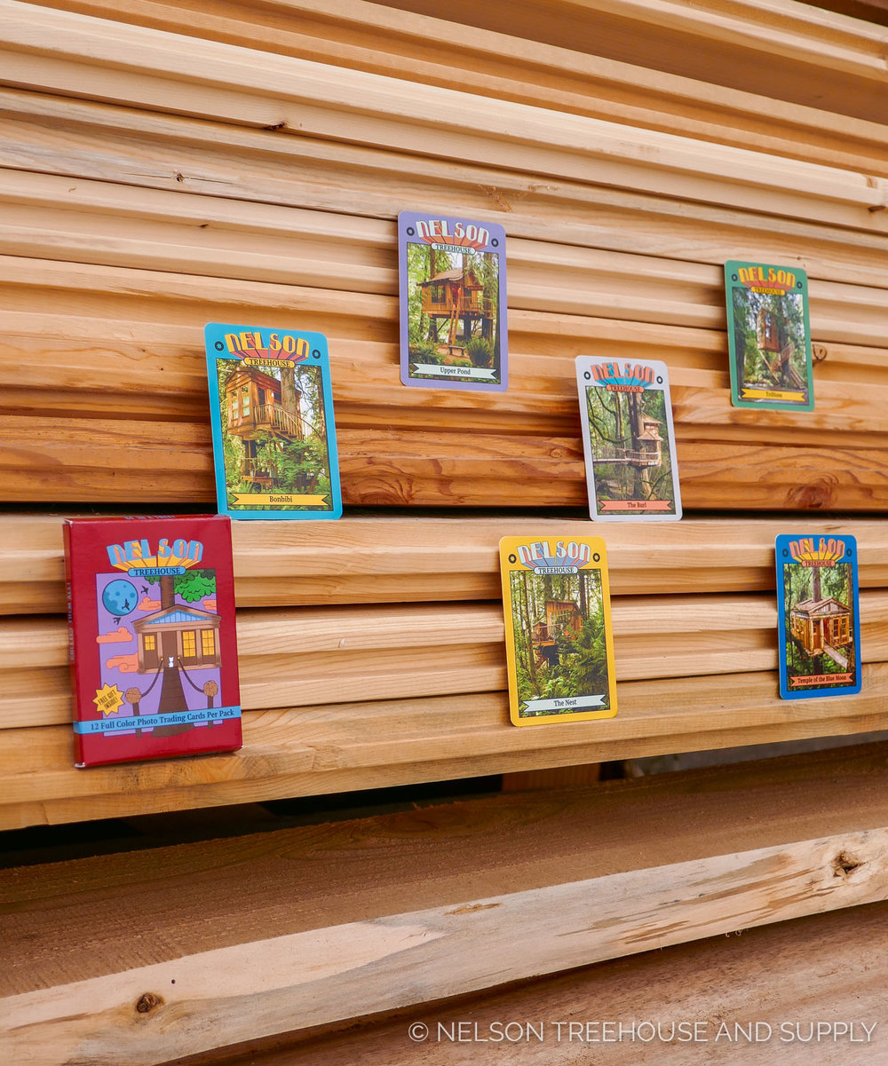 A glimpse of the six TreeHouse Point treehouses in the collection.