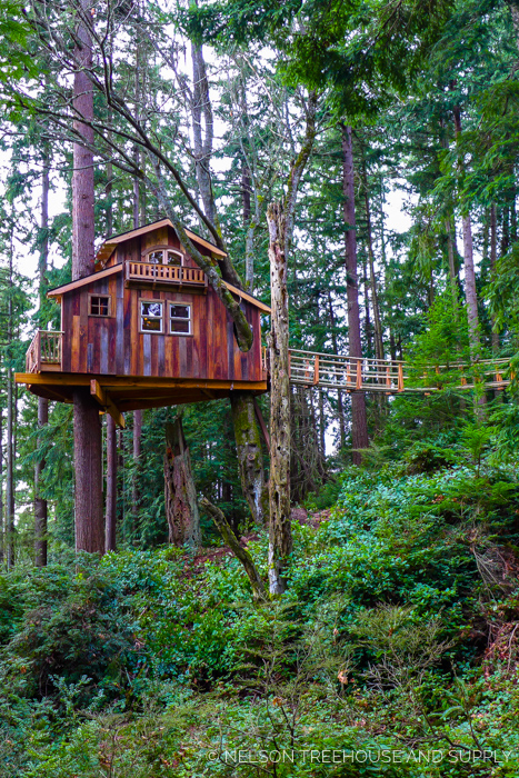 SKY PIRATE HIDEOUT    Location:  Washington  Year Built:  2015  Square Feet:  254  Elevation:  15 ft Fully tree-supported  Seasonality:  All-season    CLICK FOR PHOTO TOUR >>