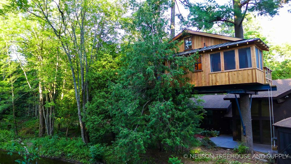 pete nelson is an expert at not only building treehouses but fulfilling dreams his and his crews passion for their craft is evident in the pride they