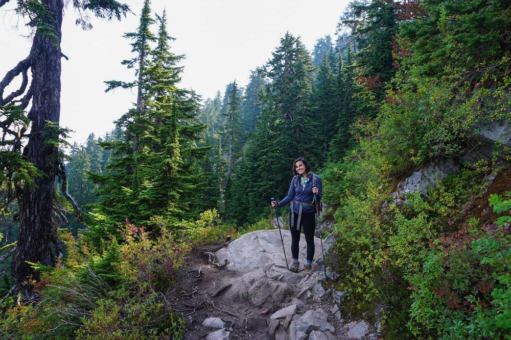 Joanna hiking