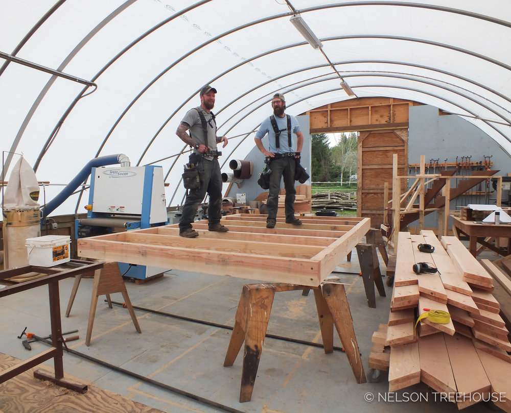 NELSON TREEHOUSE PREFABRICATION CARPENTERS