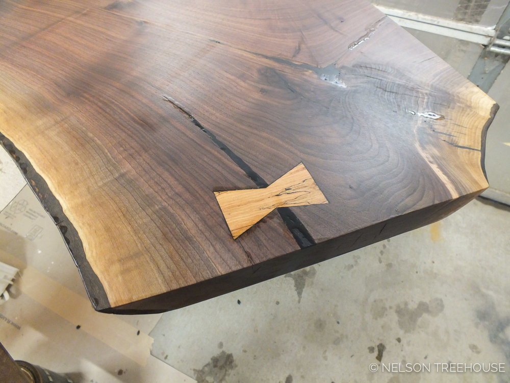 BUTTERFLY JOINT IN SLAB COUNTERTOP