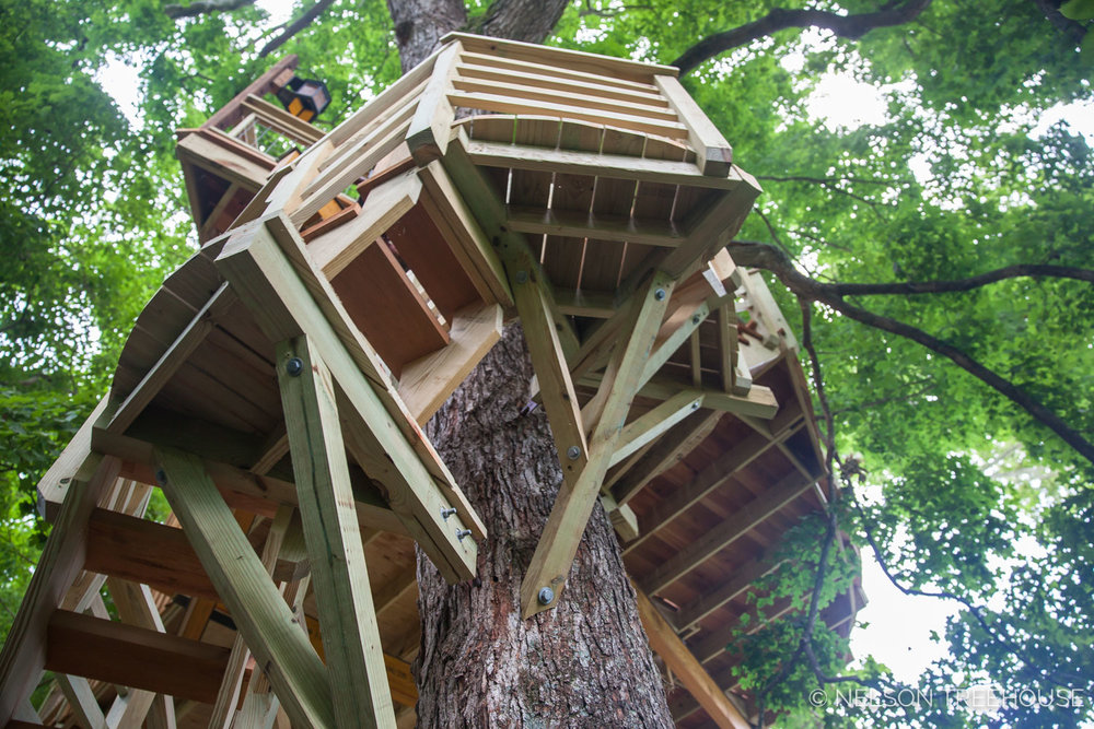 TenNessee Riverbank Treehouse Platform
