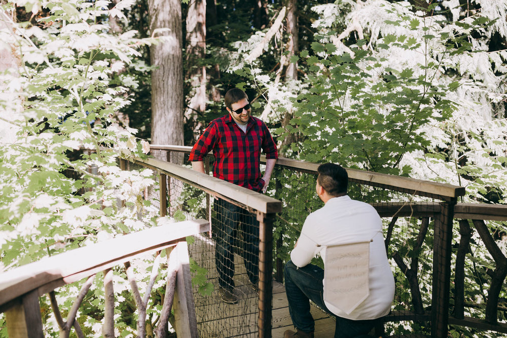 TreeHouse Point surprise proposal on treehouse bridge