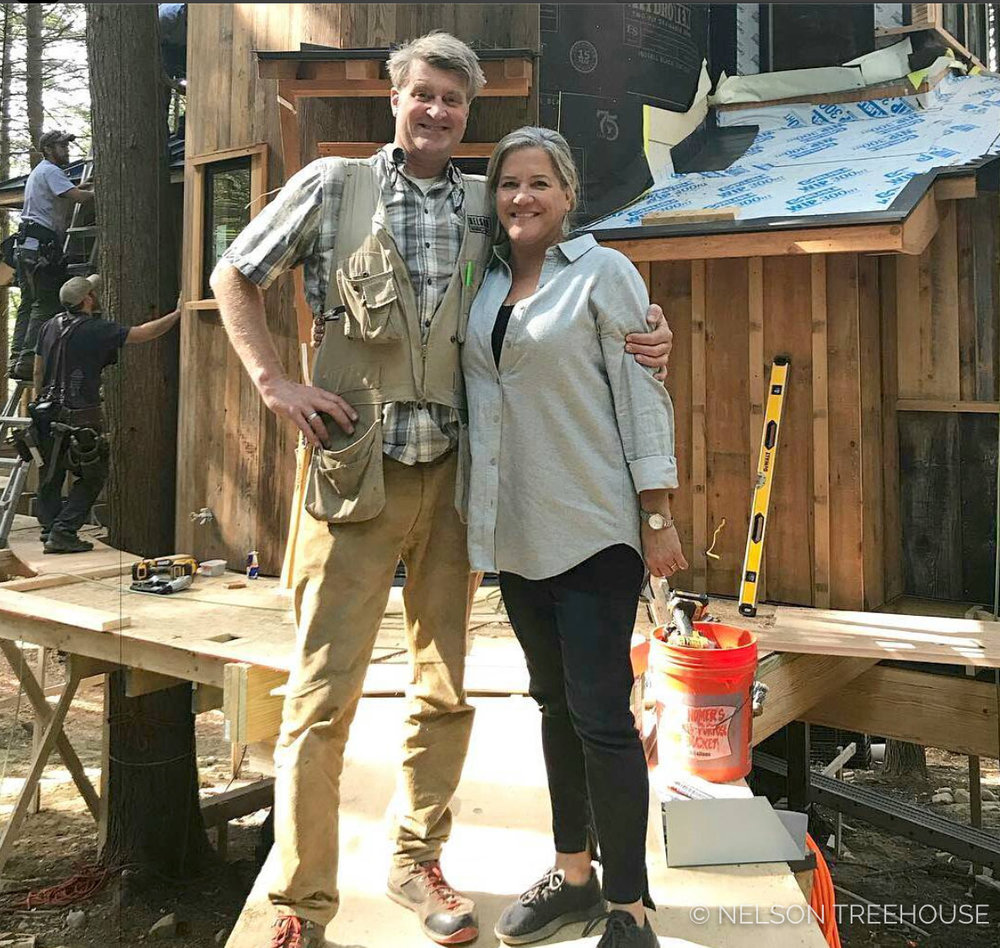 I'm so grateful that Judy Joins me on my treehouse adventures around the world - She brightens every build.