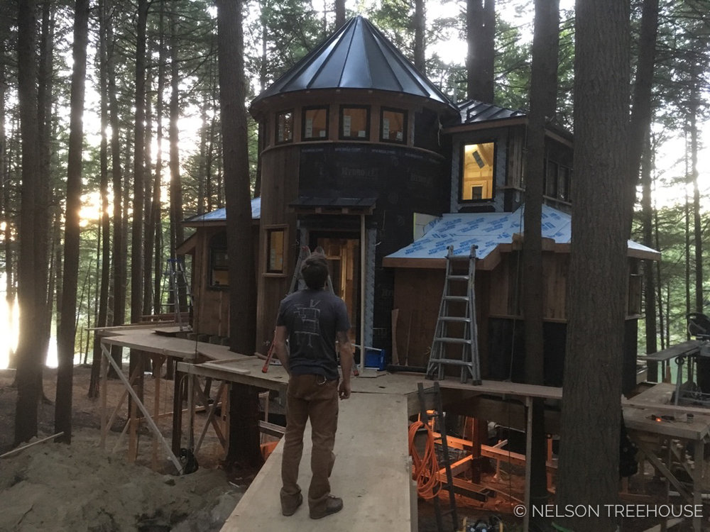 Building the Magical Maine treehouse