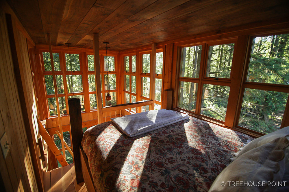 Inside the Trillium Treehouse.