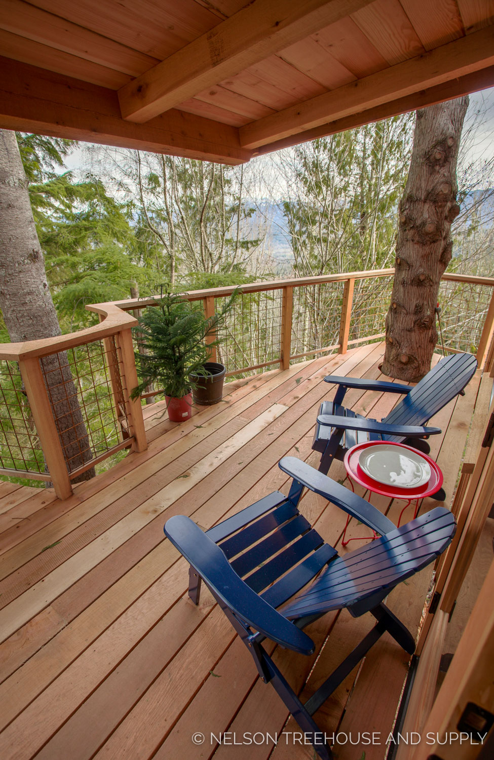 Bulldog Bungalow deck view - nelson Treehouse