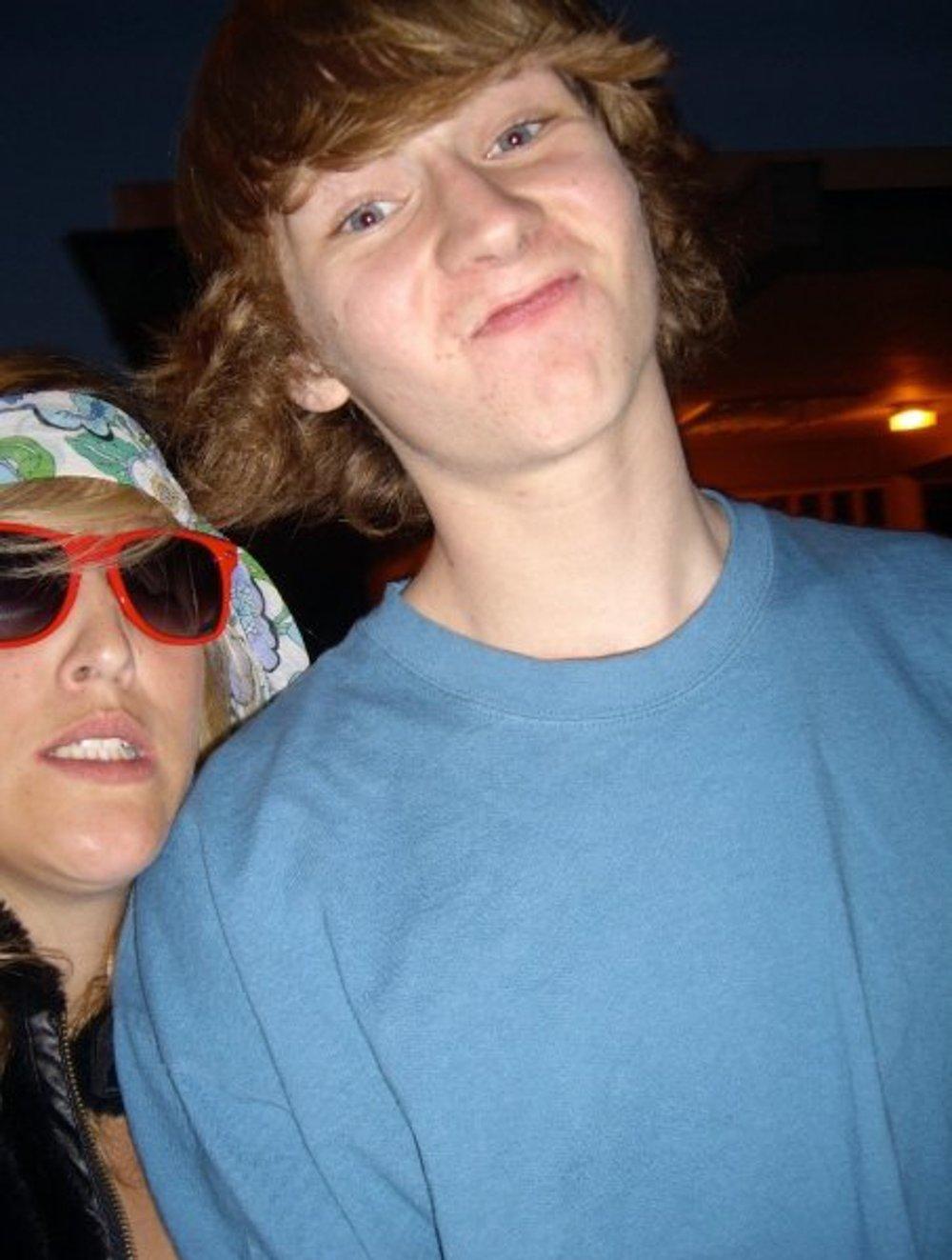 Garrett with Emily Nelson, circa 2006.