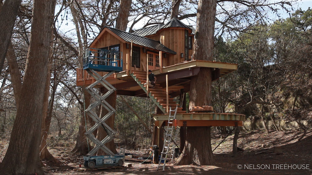 Next At Treehouse Utopia A Chateau And Library In The Trees