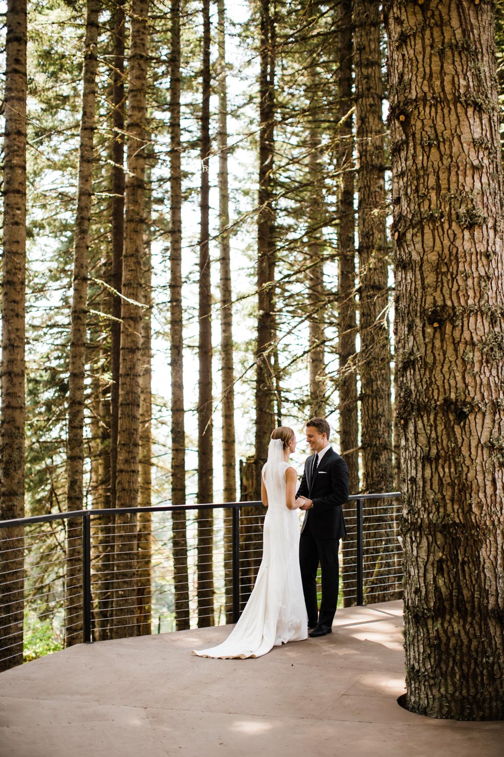 Jena and Kyler on the completed tree-deck. Photo by  The Hearnes Adventure Photography