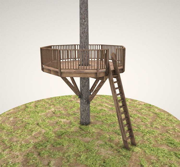 Our   heavy-duty marblemount   treehouse plan.