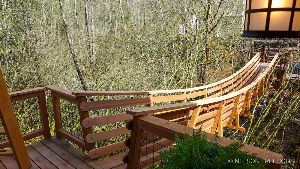Thrill 'n' Chill Treehouse Suspension Bridge - Nelson Treehouse