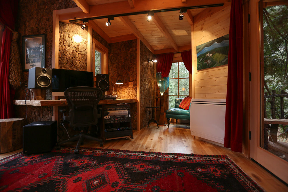 Inside Nelson treehouse recording studio